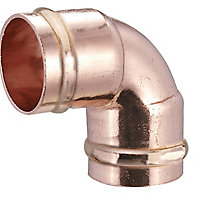 Solder ring 90° Pipe elbow (Dia)15mm, Pack of 10