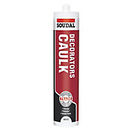 Soudal White Flexible Decorators caulk 290ml