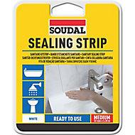 Soudal White Sealant strip , (L)3.35m (T)22mm