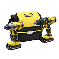 Stanley FatMax 18V 1.3Ah Li-ion Cordless Combi drill & impact driver FMCK465C2S-GB