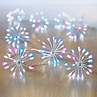 Starburst 400 Rainbow LED String lights Clear & silver cable