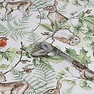 Superfresco Easy Neutral Woodland animals Smooth Wallpaper