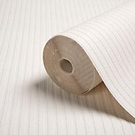 Superfresco White Ribbed Textured Wallpaper