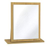 Swift Montana Oak effect Framed Mirror (H)510mm (W)480mm