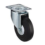 Tente Zinc-plated Swivel Castor 96267700, (Dia)125mm (H)155mm (Max. Weight)100kg