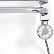 Terma Chrome effect 120W Thermostatic Enamel heating element