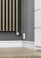 Terma Rolo room Vertical Electric designer Radiator, Quartz mocha (W)480mm (H)1800mm