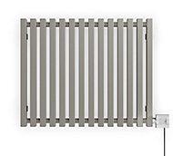 Terma Triga Horizontal Designer Radiator, Metallic stone (W)680mm (H)560mm
