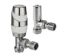 Terrier White & chrome Angled TRV with lock shield