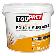 Toupret Rough Surface Ready mixed Finishing plaster, 20kg Tub