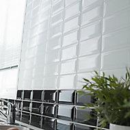 Trentie White Gloss Metro Ceramic Wall tile, (L)200mm (W)100mm, Sample