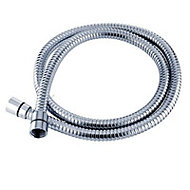 Triton Chrome effect Stainless steel Shower hose, (L)2m