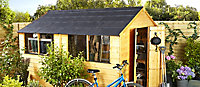 Tuilix Slate grey Recyclable & recycled plastic Ridge piece (L)560mm (W)150mm