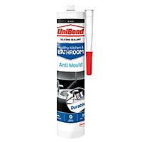 UniBond Healthy kitchen & bathroom Mould resistant Black Silicone-based Sanitary sealant, 300ml