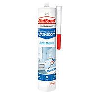 UniBond Mould resistant White Kitchen & bathroom Silicone-based Sealant, 300ml