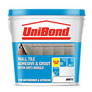 UniBond Ready mixed White Tile Adhesive & grout, 12.8kg