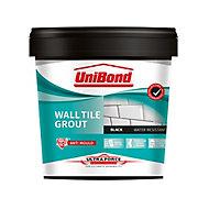 UniBond UltraForce Ready mixed Black Wall tile Grout, 1.38kg Tub
