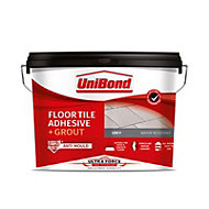 UniBond UltraForce Ready mixed Grey Floor Tile Adhesive & grout, 14.3kg