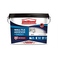 UniBond UltraForce Ready mixed Ice white Wall Tile Adhesive & grout, 12.8kg