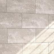 Urban Grey Matt Ceramic Wall & floor Tile, Pack of 5, (L)600mm (W)300mm