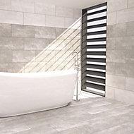 Urban White Matt Stone effect Ceramic Wall & floor Tile, Pack of 5, (L)600mm (W)300mm