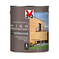 V33 High protection Clear Mid sheen Wood stain, 2.5L