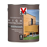 V33 High protection Light oak Matt Wood stain, 2.5L