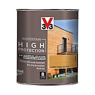 V33 High protection Light oak Mid sheen Wood stain, 750ml