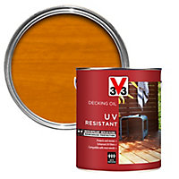 V33 Medium oak UV resistant Decking Wood oil, 5L