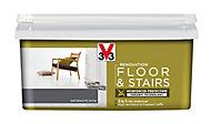 V33 Renovation Anthracite Satin Floor & stair paint, 2L