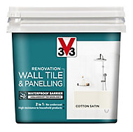 V33 Renovation Cotton Satin Wall tile & panelling paint, 0.75L
