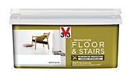 V33 Renovation White Satin Floor & stair paint, 2L