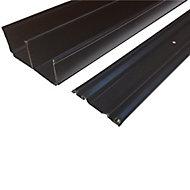 Valla Contemporary Black Sliding wardrobe door track set (L)1500mm (W)550mm