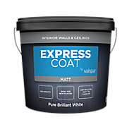 Valspar Express Coat Pure Brilliant White Matt Emulsion paint, 10L