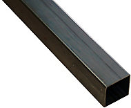 Varnished Cold-pressed steel Square Tube, (L)1m (W)20mm (T)1.25mm