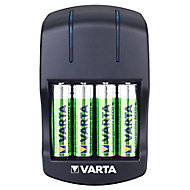 Varta 5h Battery charger with batteries with 4x AA batteries