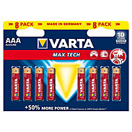 Varta Longlife Max Power Non-rechargeable AAA Battery, Pack of 8