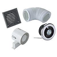 VDISL100S Bathroom Shower fan kit