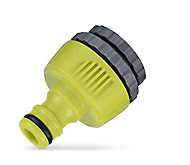 Verve 3 in 1 Green & grey Hose pipe connector (W)34mm
