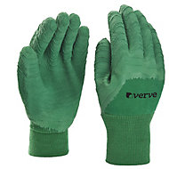 Verve Nylon Green Gardening gloves, Large