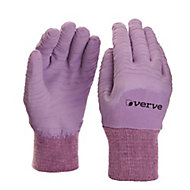 Verve Nylon Lavender Gardening gloves, Medium