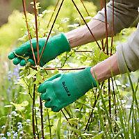 Verve Polyester (PES) Green Gardening gloves, Medium