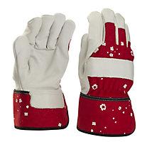 Verve Red & white Gardening gloves, Medium