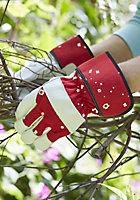 Verve Red & white Gardening gloves, Small