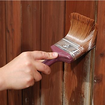 painting wooden garden storage
