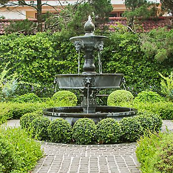 water fountain in a classic garden