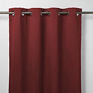 Vestris Red Plain Blackout Eyelet Curtain (W)167cm (L)228cm, Single