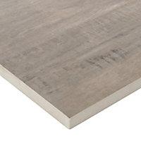 Vintage Natural Matt Wood effect Porcelain Outdoor Floor tile, Pack of 2, (L)1195mm (W)297mm