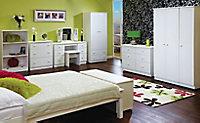 Warwick Contemporary Matt white Tall Triple Wardrobe (H)1970mm (W)1110mm (D)530mm