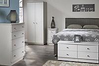 Warwick Matt grey 3 Drawer Desk (H)795mm (W)1200mm (D)540mm